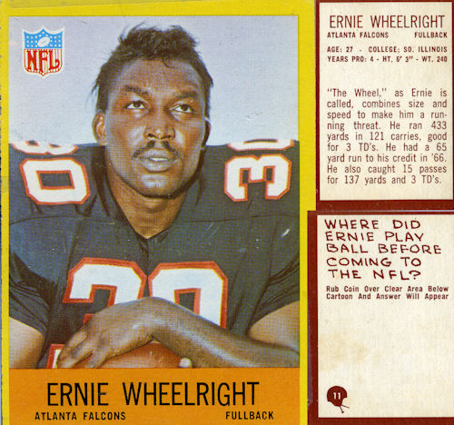 Ernie Wheelwright (running Back) Review Football Card